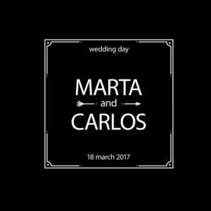 Animation wedding name and date